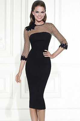 Robe Cocktail A  Resille - Taille S - Noire --Neuf - Black Evening Bodycon Dress
