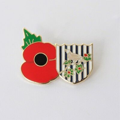 West Bromwich Albion Poppy Pin Badge