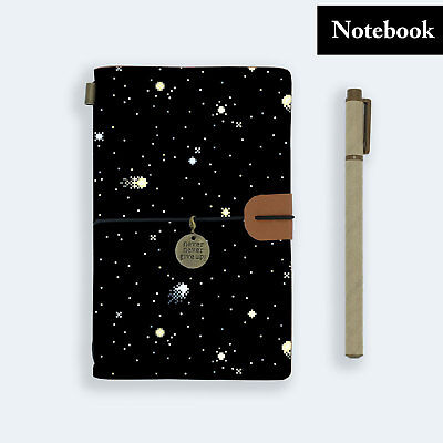 Hand Made Genuine Leather Journal Travel Diary Travelers Notebook Size Galaxy