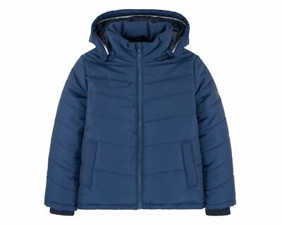 Sale Boys Hugo Boss J26324 804 Puffer Jacket Hooded Blue