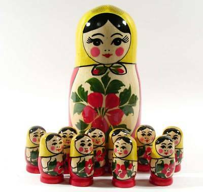 Matryoshka Nesting Doll Russian Children Toy to Learn Counting