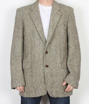 "Harris Tweed Tailored fitted Jacket Blazer 44"" Large XL 44L (JBS) DUNN & CO"