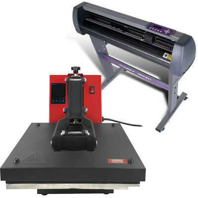 "28"" Vinyl Cutter & 15 x 15 Heat Press - TShirt + Sign Making Machines COMBO"