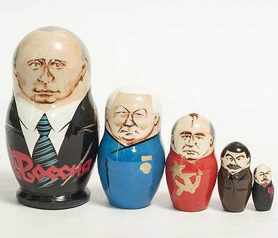 Putin Russian President Authentic Hand-Painted Matryoshka Nesting Doll