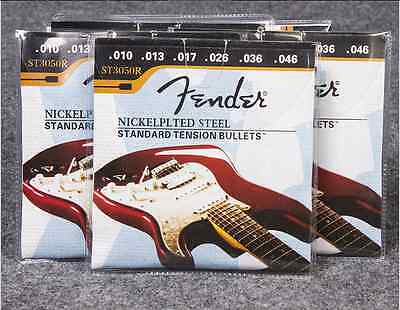 5 Sets NICKEL PLATED STEEL STANDARD TENSION (.010-.046) Electric Guitar Strings