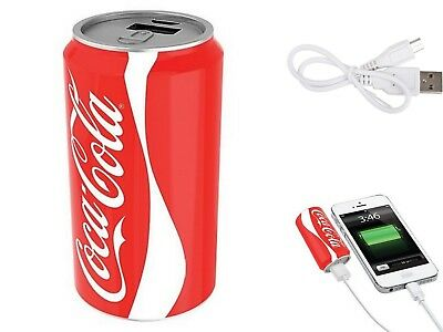New COCA COLA USB Portable POWER BANK Charger Licensed COKE iPhone Android