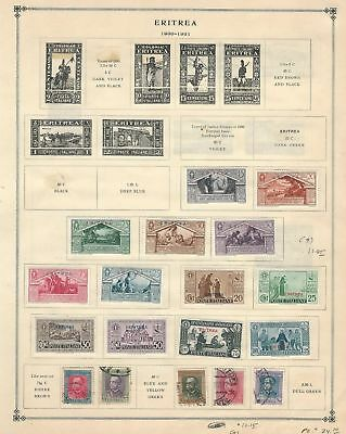 Eritrea Collection 1892-1934 on 5 Scott International Pages, Italian Colony