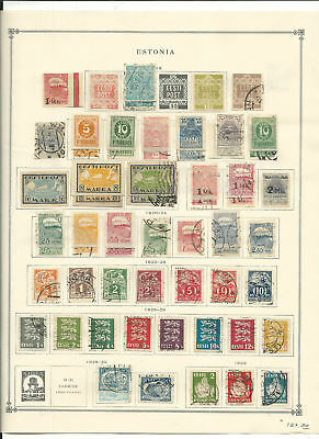 Estonia Collection 1918-1940 on 6 Scott International Pages