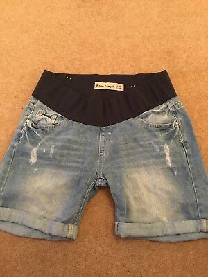 MATERNITY BLUE DENIM SHORTS From New Look size 10