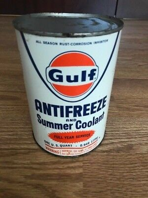 "Gulf  - ""Antique can Antifreeze unopened"""