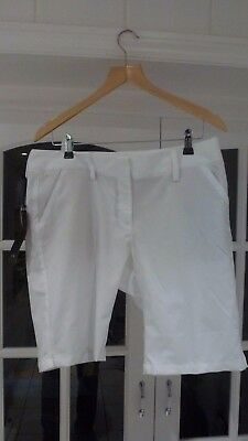 BNWT ADIDAS Ladies Golf Shorts Trousers White Size 16  34""
