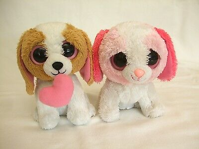 Ty Beanie Boos/Boo Cookie Pink & White & Cookie with Heart Approx 5'' 15cms