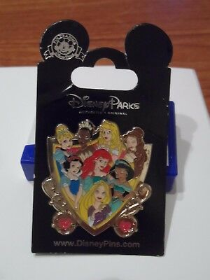 Disney Princesses Shield BRAND NEW Disney Trading Pin on Card!!