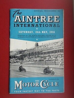 "#13 ""The Aintree International"" Motor Cycle Race Meeting Programme.1956."