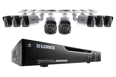 Lorex 16-Channel HD Analog DVR with 2TB HDD, 8 1080p Cameras with 130' Night Vis