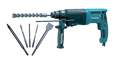 MAKITA HR2630 110v SDS-ROTARY HAMMER + FREE SDS Chisel/Point and 3 SDS+ Bits