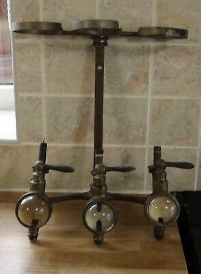 3 Vintage Brass Bar Optics by Gaskell & chambers Ltd complete with frame.