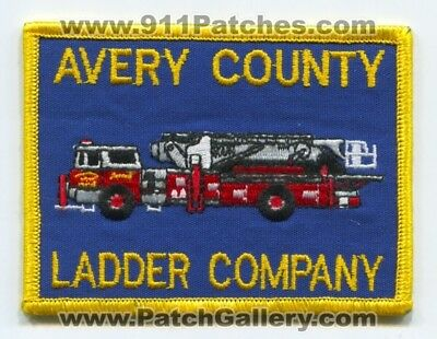 Avery County Fire Department Ladder Company Patch North Carolina Nc Station