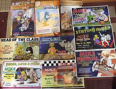 """Lot of 10 """"Mike the Headless Chicken"""" Festival Posters Signed Sally E D'Agostino"""
