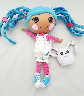 """Lalaloopsy - New Blue Silly Hair  Mittens Fluff 'n' Stuff 12"""" Doll+ Mouse Pet"""