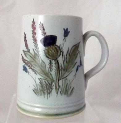 Buchan Pottery Thistle Bluebell & Heather Pattern One Pint Tankard in Stoneware