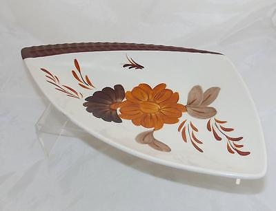 Shorter & Son  Floral Pattern Triangular Dish made in White Earthenware