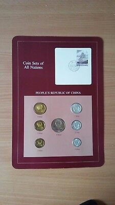(06) Coin Sets of All Nations China w/card 1981-1982 UNC