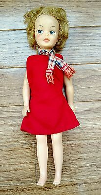 Vtg 1960s PEPPER Doll w/ Original Barbie Dress Ideal Toy Tammys Sister G-9-W-1