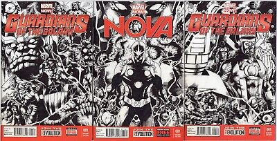 Marvel Guardians Of The Galaxy Original Comic Sketch Cover Art By Nestor Celario