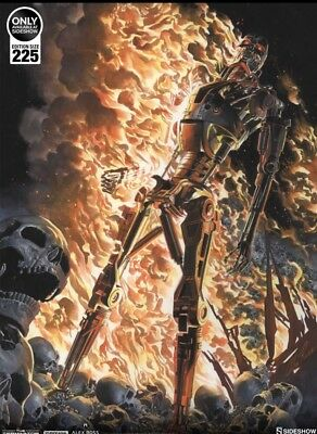 Sideshow Unframed Terminator: The Burning Earth Art Print by Alex Ross