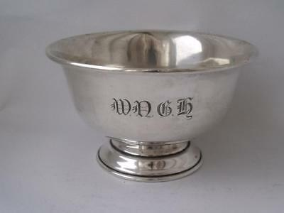 Solid Sterling Silver Bowl 1928/ Dia 10.7 cm/ 86 g