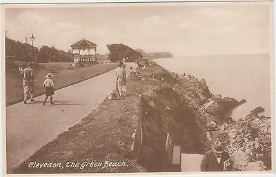 SOMERSET/ CLEVEDON/ THE GREEN BEACH/Bandstand/ looking SW