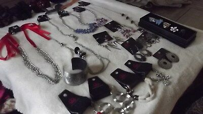 Paparazzi Accessories Jewelry Mixed Lot of 25 Necklaces Bracelets Earrings Rings