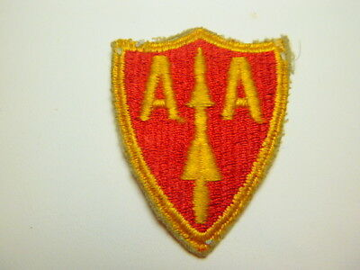 A      U S Army A A Arty Command Cut Edge Snow Back Patch