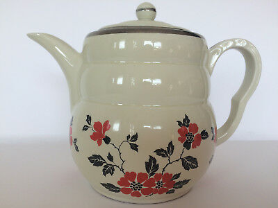Hall Red Poppy Radiance Daniel Coffee Pot, Vintage 1930s Kitchen
