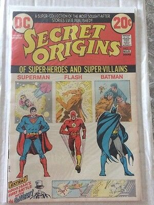 DC  Secret Origins Superman Flash Batman #1 1973