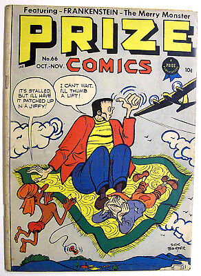 Prize Comics #66 Frankenstein  Becomes An Artist - By Dick Briefer Vg+ 1947!