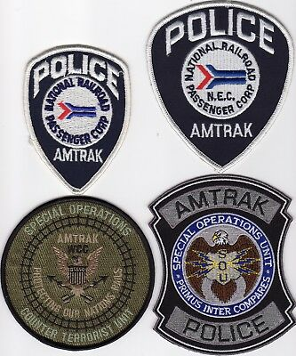 Amtrak Police  - 4 Patch Set!