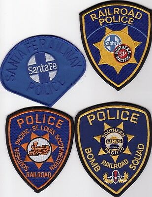 SOUTHERN PACIFIC Police patches - 4 patch SET - BOMB SQUAD