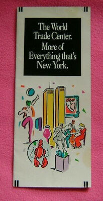 World Trade Center -  9/11 - Twin Towers - 1992 - More Of Everything brochure