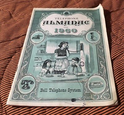 1960 Telephone Almanac For 1960 From The Bell Telephone System