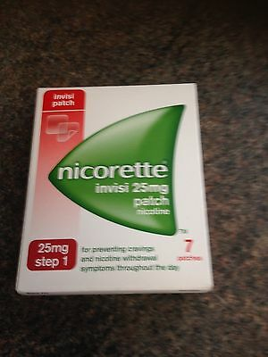 nicorette Step 1 invisi patches 25mg x 7 Free post & fast dispatch!