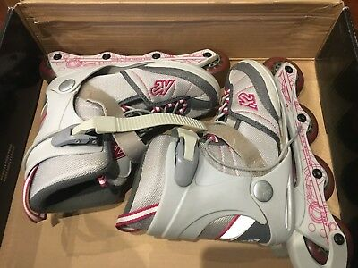 Girls K2 Softboot Adjustable Roller Blades Inline Skates Rollerblade US 1-5