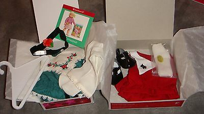 NIB AMERICAN GIRL Kit & Ruthie (Retired) Holiday Outfits Complete