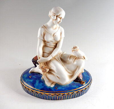 ART DECO E&A MULLER GERMAN PORCELAIN FIGURE c.1930.