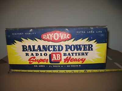 Vintage Ray-O-Vac Radio Battery For Display Or Parts ( Outer Shell Only )