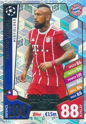 Match Attax Champions League 17/18 - 424 - Arturo Vidal - Club 100