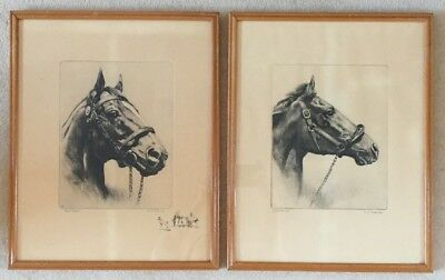 Two Horse Prints By R. H. Palenske, Man O' War & Whirlaway, 1956 Brown & Bigelow