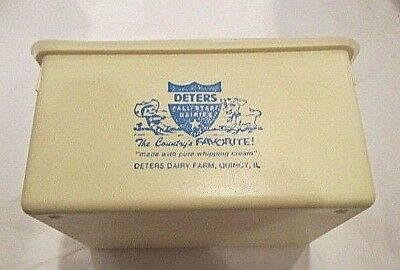 Deters All Star Dairies Hard Plastic Quart container Quincy Illinois
