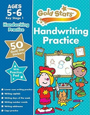 Gold Stars Handwriting Practice Ages 5-6 KS1 by Parragon Book The Cheap Fast